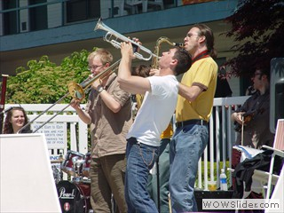 Brass Trio Poolside at Waterfront Film Festival
