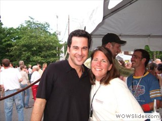 Jonathan Silverman and Dori DePree enjoying the Waterfront Film Festival