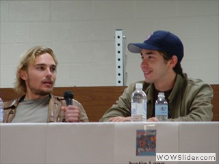 Justin Long & Joey Kern - panelists at Waterfront Film Festival