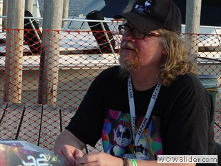 Ron English signs posters at Waterfront Film Festival